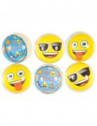 6 Balles rebondissantes Emoji™ 4 cm