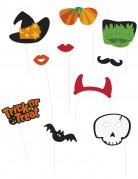 Kit photobooth Halloween 10 accessoires
