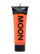 Gel visage et corps orange fluo phosphorescent 12 ml Moonglow ©
