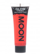 Gel visage et corps rouge fluo phosphorescent 12 ml Moonglow ©