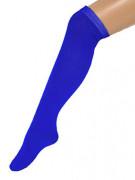 Chaussettes longues bleues 53 cm adulte