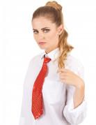 Cravate rouge à sequins adulte