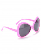 Lunettes disco adulte rose