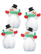 Vous aimerez aussi : 4 Mini centres de table Bonhomme de neige 15 cm