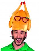 Chapeau dinde à lunettes humoristique adulte Noël