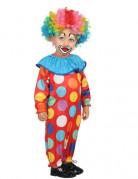 Déguisement petit clown à pois bébé