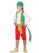 Déguisement prince arabe vert garçon