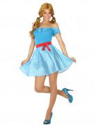 Déguisement robe années 50 bleue