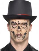 Tatouage transfert squelette noir adulte Halloween