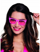 Lunettes rose fluo 80's adulte