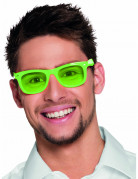 Lunettes vert fluo 80's adulte