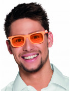 Lunettes orange fluo 80's adulte