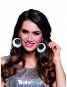 Boucles d'oreilles paillettes argentées femme