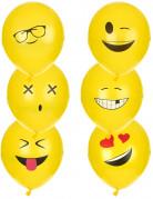 6 Ballons latex Imoji™ 24 cm