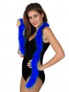 Marabou bleu foncé 185 cm