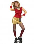 Vous aimerez aussi : Déguisement années 80 doré et rouge femme