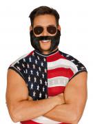 Barbe et moustache noire avec pattes adulte