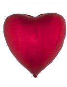 Ballon aluminium forme coeur rouge 45 cm