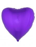 Ballon aluminium coeur violet 45 cm