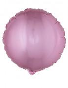 Ballon aluminium rond rose 45 cm