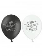 Vous aimerez aussi : 6 Ballons Happy Birthday noir et blanc 30 cm
