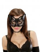Demi masque chat sexy en dentelle femme