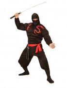 Déguisement ninja musclé noir adulte
