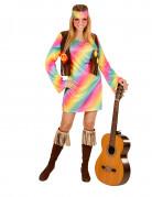 Déguisement hippie multicolore pastel femme