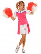 Déguisement pompom girl rose et blanc femme