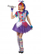Vous aimerez aussi : Déguisement arlequin pompons colorés femme