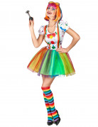 D�guisement clown peinture multicolore femme