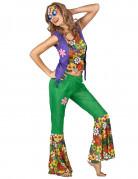 Déguisement Hippie flower power femme