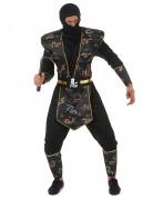 Déguisement ninja dragon d'or homme