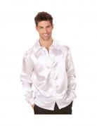 Chemise satinée blanche homme