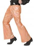 Pantalon disco holographique orange homme