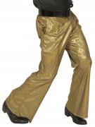 Pantalon disco holographique doré homme