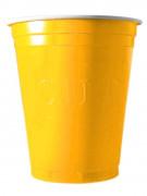 20 Gobelets américains jaunes 53cl