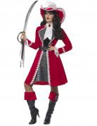 Déguisement capitaine rouge luxe femme