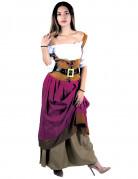Déguisement tavernière médiévale élégant femme