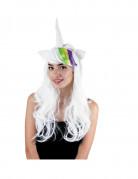 Perruque licorne avec cornes et oreille femme