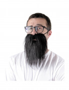Barbe hipster noire adulte