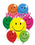 Vous aimerez aussi : 6 Cartes d'invitation en carton Smile 10,5 x 8 cm