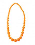 Collier grosses perles orange adulte