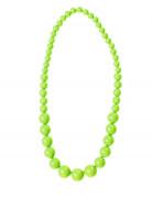 Collier grosses perles vertes adulte