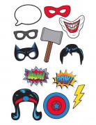 Kit photobooth 12 pièces Super-héros