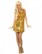 Déguisement robe disco sexy or femme