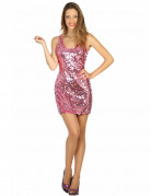 Déguisement robe disco sexy rose femme