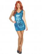 Déguisement robe disco sexy bleue femme
