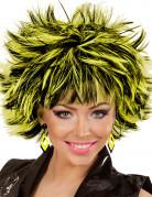 Boucles d'oreilles losange noires et jaunes femme