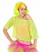 Vous aimerez aussi : T-shirt court résille jaune années 80 femme